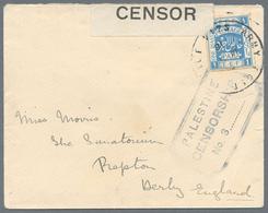 Palästina: 1916/22, FPO 34 On 1916 Front Cover Resp.FPO D60 On Aug. 1918 Card From Tulkarem (Proud 2 - Palästina