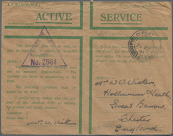 Palästina: 1940/1943, Nine Field Post Envelopes Sent By British Forces In Palestine To Great Britain - Palästina