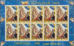 Palästina: 1994/2001, Huge Investment Lot Of Stamps, Souvenir Sheets And Booklets, Often Still In Or - Palästina