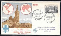 FDC 1955 - 1037  Série Touristique: Marseille - FDC