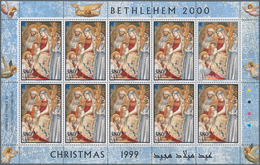 """Palästina: 1999, Christmas, MHN Stock Of These Issues In Sheetlets (each One With Nine """"normal"""" Stam - Palästina"""