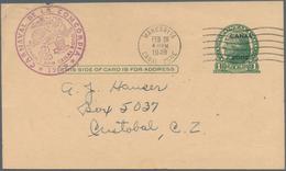 Panama-Kanalzone: 1923/74 10 Commercially Used Postal Stationery Postcards And Envelopes, While Regi - Panama