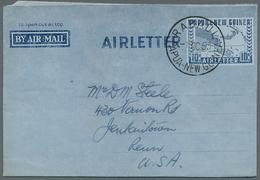 Papua Neuguinea: 1953/1995 (ca.), AEROGRAMMES: Accumulation With About 250 Unused And Used/CTO Airle - Papua-Neuguinea