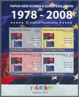 Papua Neuguinea: 2008. Lot Of 950 Souvenir Sheets PNG PARTNERSHIP WITH EUROPEAN UNION (30th Annivers - Papua-Neuguinea