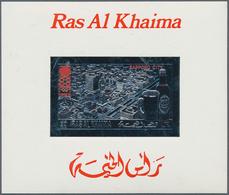 Ras Al Khaima: 1968/1972, GOLD/SILVER ISSUES, U/m Assortment Of 36 Stamps And 24 Souvenir Sheets, In - Ras Al-Khaimah