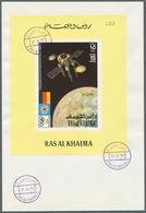 Ras Al Khaima: 1969/1972, Assortment Incl. 23 Covers (unaddressed Envelopes Resp. Registered Covers) - Ras Al-Khaimah