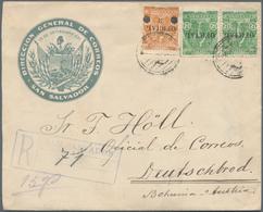 El Salvador: 1900/1938 Appr., 56 Covers And Cards Including 45 Different Unsued Stationeries. - El Salvador
