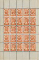SCADTA - Ausgaben Für Kolumbien: 1921/1928, Lot Of Five Folded Sheets: Michel Nos. 13 A, 16, 35, 36, - Kolumbien