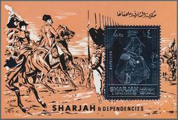 Schardscha / Sharjah: 1970, 4r. Napoleon Silver Souvenir Sheet, 287 Pieces MNH. This Issue Is Not Li - Schardscha