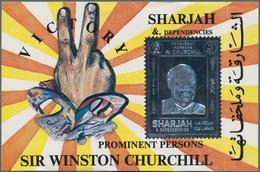 Schardscha / Sharjah: 1972, 6r. Churchill Silver Souvenir Sheet, Apprx. 700 Pieces MNH. This Issue I - Schardscha