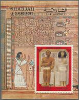 Schardscha / Sharjah: 1972, Ancient Egypt, 4r. Souvenir Sheet, Holding Of Apprx. 5000 MNH Souvenir S - Schardscha