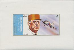 Schardscha / Sharjah: 1972, De Gaulle/Airplanes, 5dh.-3r. DE LUXE SHEETS, Apprx. 350 Complete Sets M - Schardscha