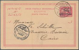 "Sudan - Ganzsachen: 1900-10 Ca., Ten Different Postal Stationerys Including 4 Milliemes (inverted ""e - Sudan (1954-...)"