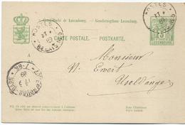 Nr. 49 - Postes Relais No. 5 (Mamer) - Stempel 17-09-1889 Von Kehlen Nach Useldange - Entiers Postaux