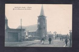 Lecelles (59) Eglise Et Monument Des Soldats ( Aux Morts Pompe à Essence  Pompiste E. Desaix) - France