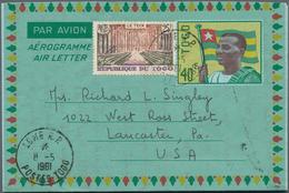 Togo: 1936/61 Ca. 56 Stationeries Used And Unused Airgrams - Togo (1960-...)