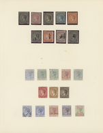 Turks- Und Caicos-Inseln: 1867-1930, Collection On Three Album Leaves All Mint, Starting First Issue - Turks & Caicos