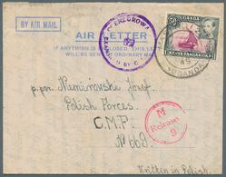 Uganda: 1945/1981 (ca.), Accumulation With About 39 Mostly Commercially Used Formular AEROGRAMMES Wi - Uganda (1962-...)