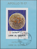 Umm Al Qaiwain: 1972, APOLLO 11 To 17 Seven Different Imperforate Special Miniature Sheets In Differ - Umm Al-Qaiwain