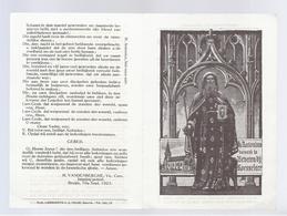 Santini Image Pieuse Holy Card 1923 H. ANTONIUS ABT BEVEREN-BIJ-ROESELARE PATROON BESMETTELIJKE ZIEKTEN ZOO ONDER DE MEN - Devotion Images