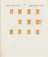 Venezuela: 1861, 1 St Prinitng, 1/2 R. Eleven Unused Pieces And 2 R. 26 Examples Including A Block O - Venezuela