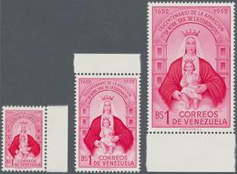Venezuela: 1952/1953, 300th Anniversary Of Mary's Apparition To The Coromoto Indians 1b. Carmine/ros - Venezuela