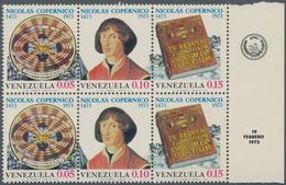 Venezuela: 1973, 500th Birthday Of Nicolaus Copernicus Complete Se-tenant Set Of Three In A Lot With - Venezuela