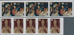 Venezuela: 1973/1974, Lot Of 1510 IMPERFORATE Stamps Mi. No. 1941 (1210 Copies) And 1999/2000 (Chris - Venezuela