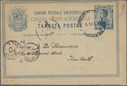 Venezuela - Ganzsachen: 1891/1914 10 Commercially Used Postal Stationery Postcards, Each With Long M - Venezuela