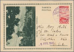 Venezuela - Ganzsachen: 1937/40 10 Different Commercially Used Picture Postal Stationary Postcards I - Venezuela