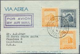 Venezuela - Ganzsachen: 1954/95 (approx.) 17 Unused/CTO-used And Used Aerograms, Incl. Two Versions - Venezuela