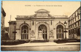 CPA 76 DIEPPE Le Theâtre - Statue De Saint Saens - Dieppe