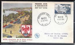 FDC 1955 - 1038  Série Touristique: Le Port De Nice - FDC