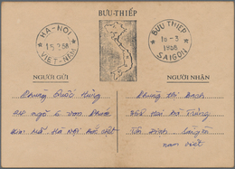 Vietnam: 1952/87 Ca. 20 Covers, Letters And Cards, Incl. Prisoner Of War Card From 1966, Two Interzo - Vietnam