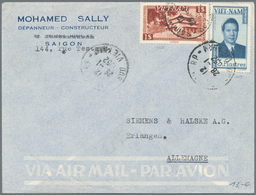 Vietnam: 1952/96, 32 Covers And 6 Labels Of South Vietnam, As Well As Covers After Unification, Some - Vietnam