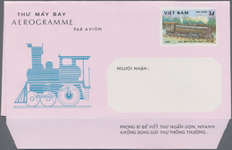 Vietnam: 1983 Two Unused Aerograms 3 Dong On Polychrome/pink With Missing Dark Blue Color, Missing T - Vietnam