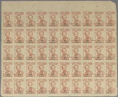 Vietnam-Nord (1945-1975): 1948/1953, Michel Nos. 2, 3, 53, Three Complete Sheets Of 50 Stamps, Unuse - Vietnam