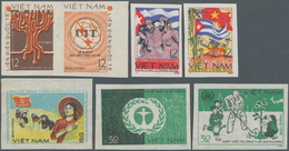 Vietnam-Nord (1945-1975): Unissued Imperforate Stamps From North Vietnam; Many Of The North Vietname - Vietnam