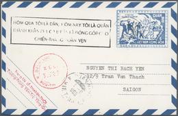 Vietnam-Süd (1951-1975): 1955/1973, Ex-1 All Military Airletters (Quan Buu) In Blue Mint (15) Or Use - Vietnam