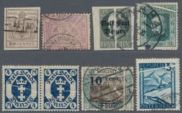 Alle Welt: 1850's-1950 Ca. PAPERFOLDS (Quetschfalten): 11 Stamps From Austria, Czechoslovakia, Danzi - Sammlungen (ohne Album)