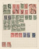 Alle Welt: 1860-1980, Sechs Alte Alben & Einsteckbücher Mit Teils Recht Interessanten Teilsammlungen - Sammlungen (ohne Album)