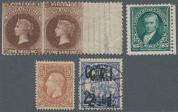 Alle Welt: 1870/1914 (ca.), Lot Of Five Stamps Incl. USA Scott No. 263 Unused, South Australia SG No - Sammlungen (ohne Album)