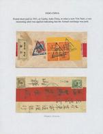 Alle Welt: 1890/1960 (ca.) A Scarce Worldwide POSTAGE DUE / TAX Exhibition-collection In Three Album - Sammlungen (ohne Album)