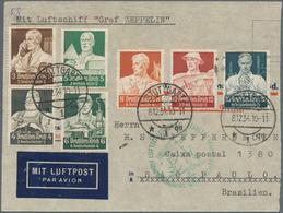 Alle Welt: 1890-1960, Vielseitiger Bestand Mit 180 Briefen Ansichtskarten Und Belegen, Dabei Einige - Sammlungen (ohne Album)