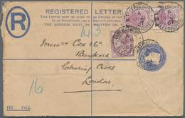 Alle Welt: 1900/58 Highly Interesting Holding Of 25 Letters, Cards And Postal Stationeries With Vari - Sammlungen (ohne Album)