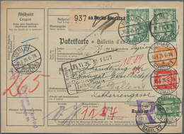 Alle Welt: 1909/1930, Lot Of 29 Covers/cards (incl. 23 Parcel Despatch Forms), Comprising Egypt, Swi - Sammlungen (ohne Album)