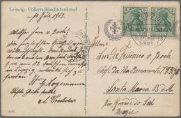 Thematische Philatelie: 1900-modern (ca.), A Box Filled Up By Stamps, Covers, Postcards, Postal Stat - Briefmarken