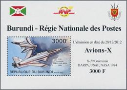 Thematische Philatelie: 2011/2013, Burundi. A Big Lot Of Different Topics In Complete Souvenir Sheet - Briefmarken