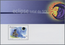 Thematik: Astronomie / Astronomy: 2001, Angola: TOTAL SOLAR ECLIPSE Souvenir Sheet, Investment Lot O - Astronomie