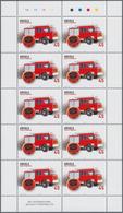 "Thematik: Feuerwehr / Firebrigade: 2004, Angola: ""FIRE BRIGADE "", Complete Set Of 3 In Miniature She - Feuerwehr"